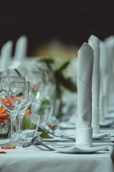 Bryllupsfest Orangeri opdækning